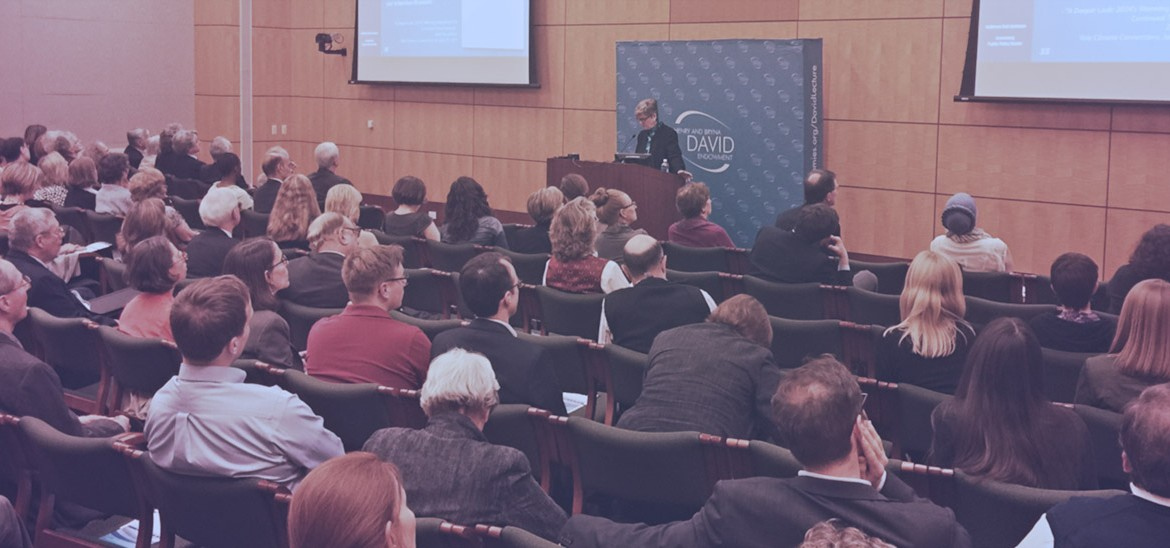 Kathleen Hall Jamieson delivering the David Lecture at the National Academy of Sciences on April 28, 2015. Credit: Courtesy of the National Academy of Sciences