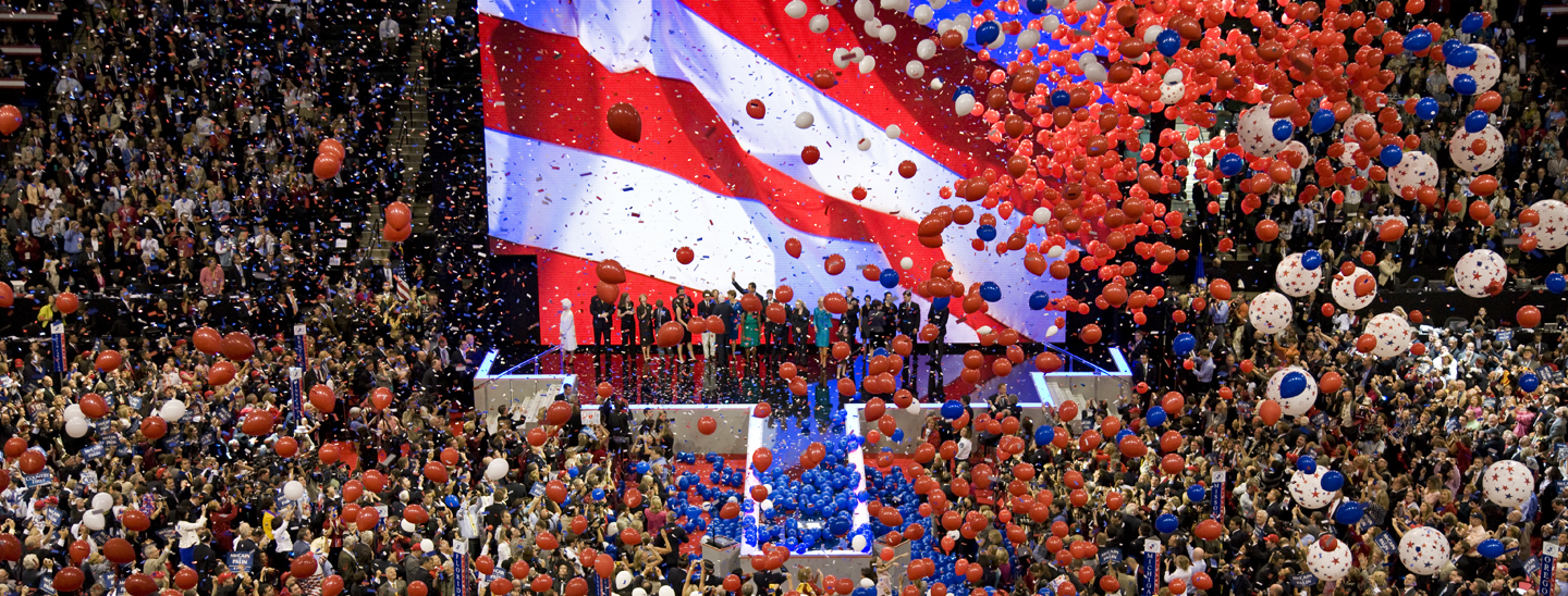 Balloon drop at the 2008 RNC. Credit: Library of Congress/Carol M. Highsmith.