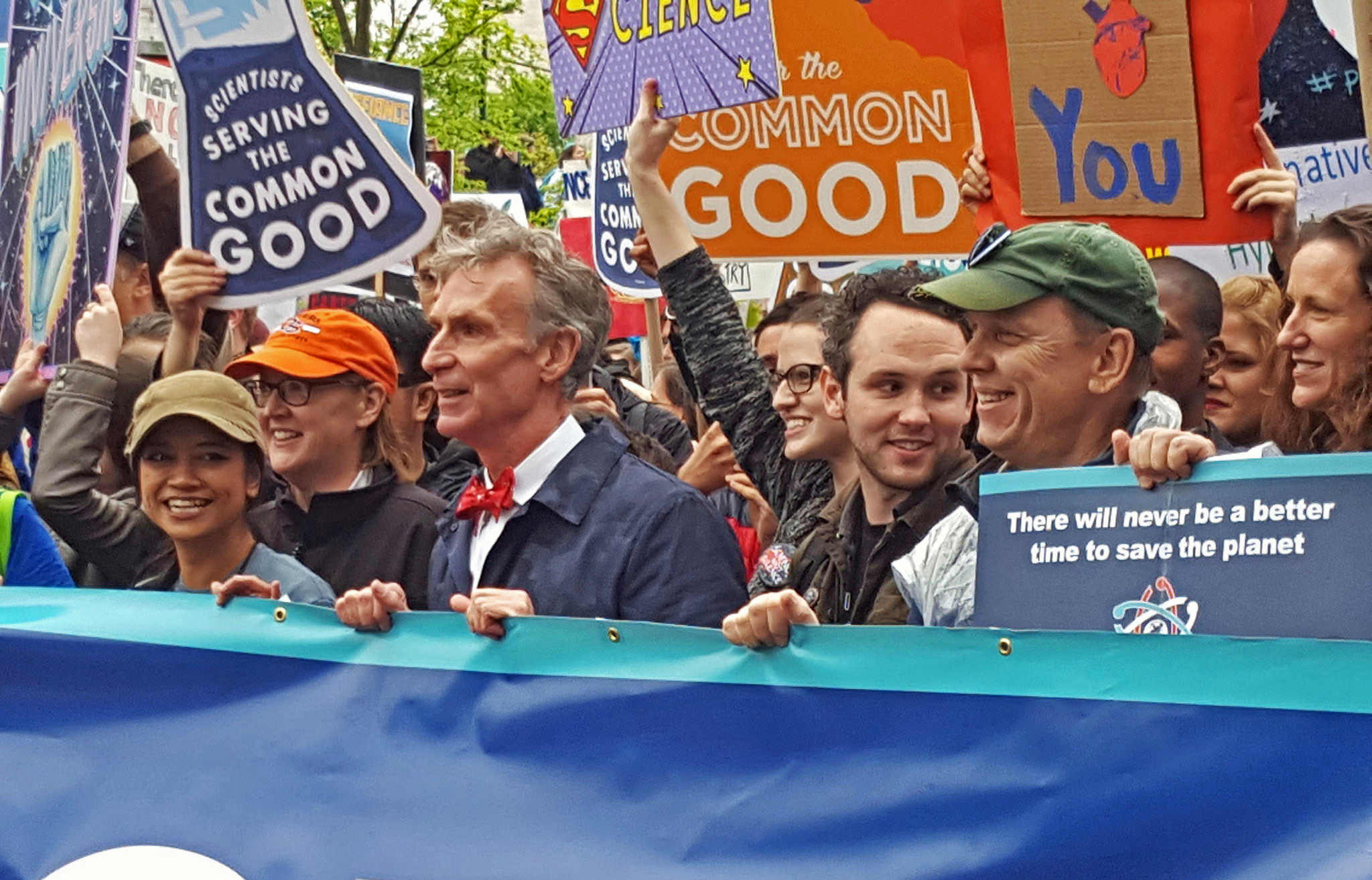Bill Nye at the March for Science in Washington, D.C., on April 22, 2017. Credit: Flickr/Becker1999.