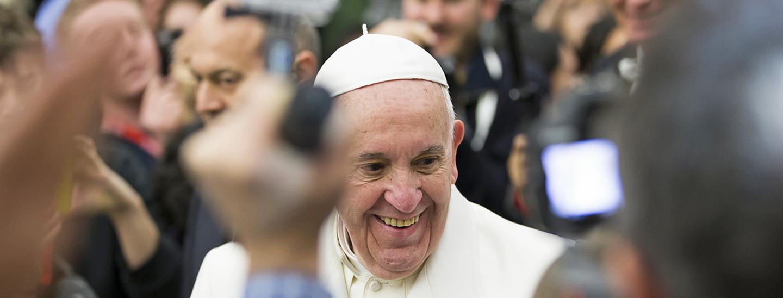 Pope Francis in Rome. Credit: Lara Farhadi.