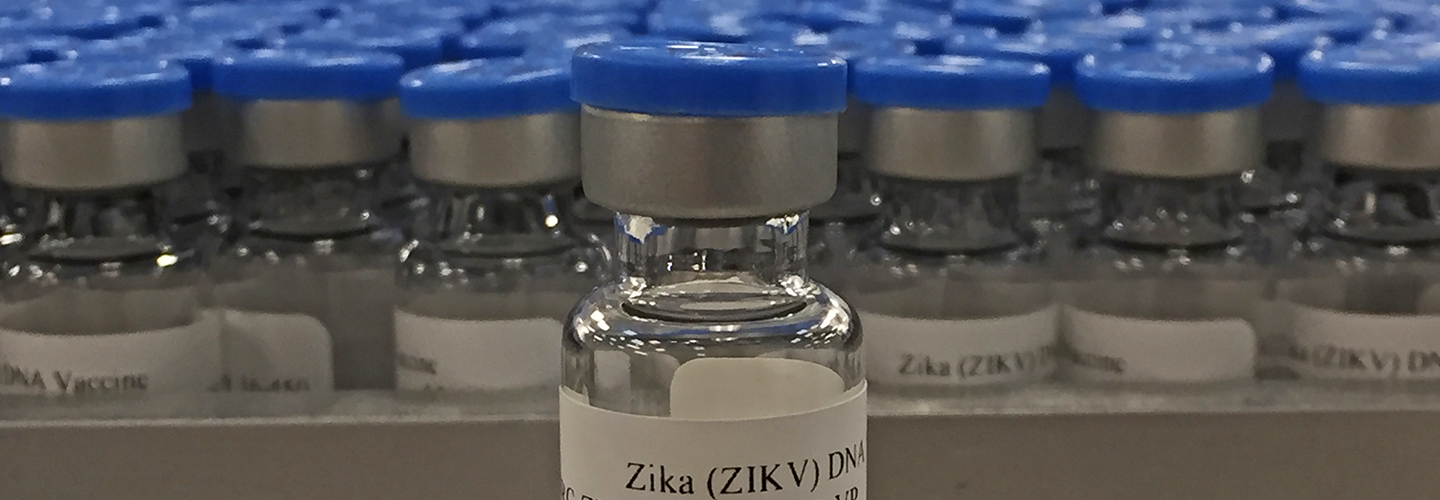 Vials of NIAID's Zika Virus Investigational DNA Vaccine, taken at the NIAID Vaccine Research Center's Pilot Plant in Frederick, MD. Credit: NIAID.