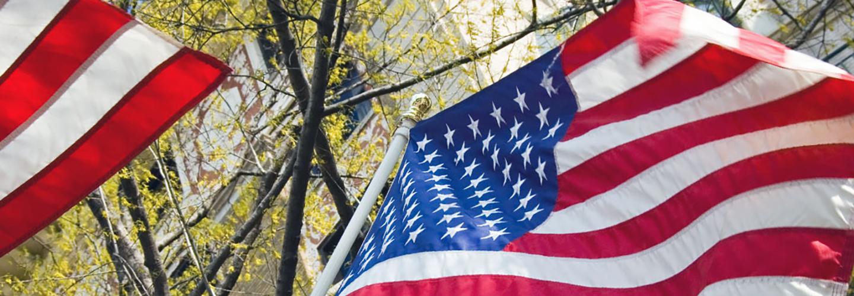 U.S. flags.