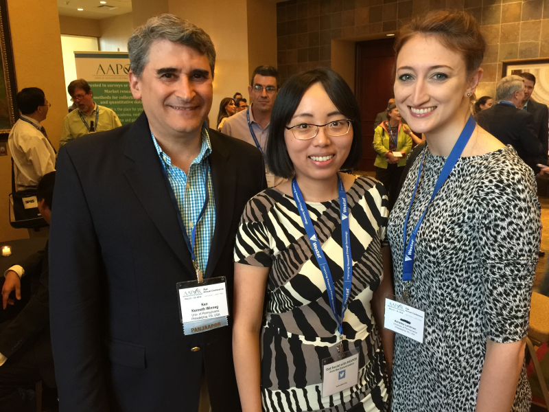 Ken Winneg, Nan Li,, and Asheley Landrum at the AAPOR conference in Austin, Texas