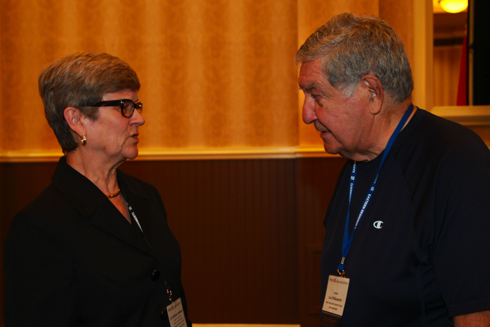 Kathleen Hall Jamieson meets with N.H. State Sen. Lou D'Allesandro