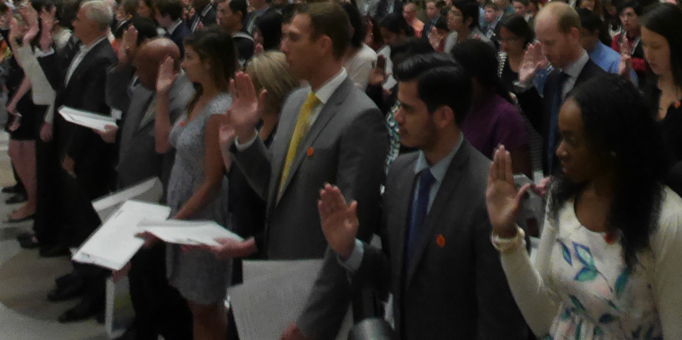 Naturalization ceremony at the National Archives, Washington, D.C. 2014.