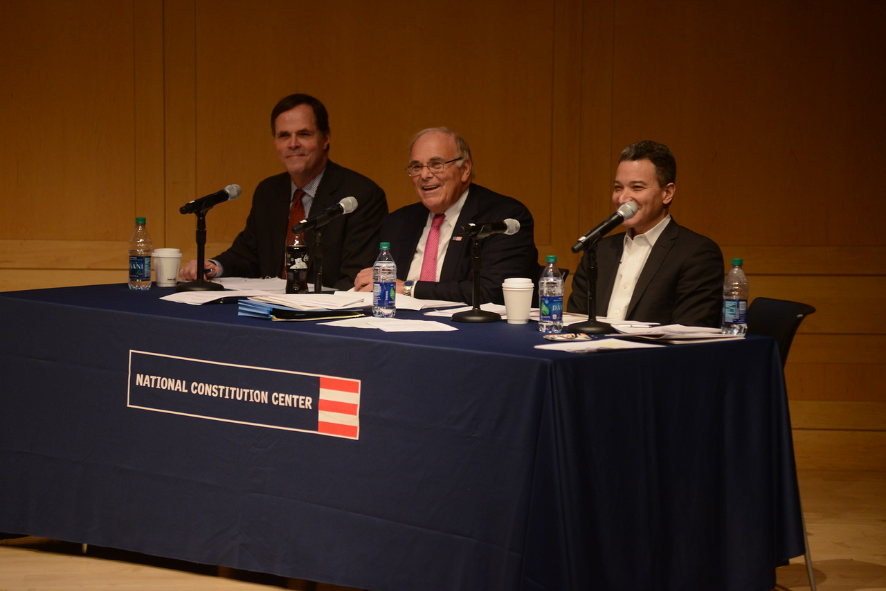 Citizenship Challenge judges David Thornburgh, Ed Rendell and Jeffrey Rosen.