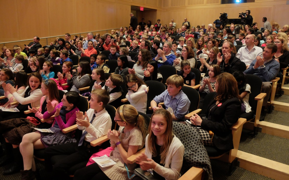 Audience fills Kirby Auditorium at the National Constitution Center.
