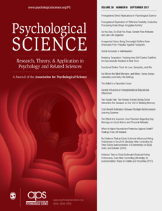Psychological Science journal.