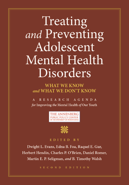 Treating and Preventing Adolescent Mental Health Disorders, Second Edition, is now available as a free e-book edition.