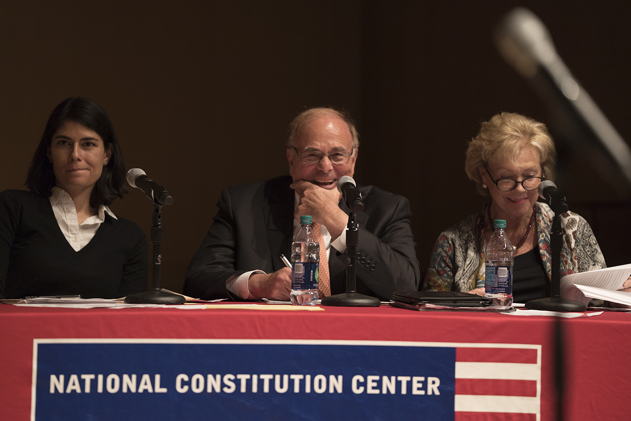 Three of the Challenge panel judges, Alison Perelman, former Gov. Ed Rendell and Judge Marjorie O. Rendell.
