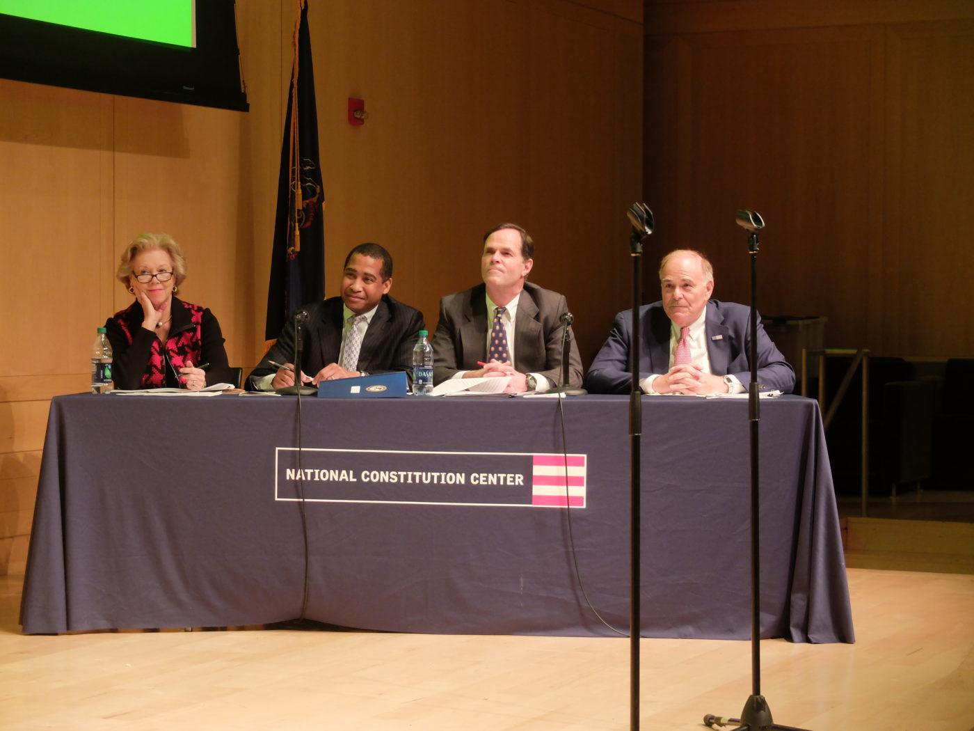 Panel of judges for the 2015 Lenfest Citizenship Challenge.