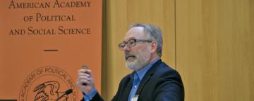 Daniel T. Lichter speaks at AAPSS event.