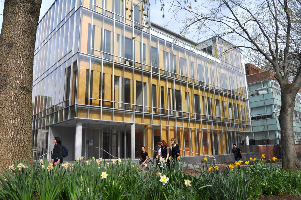Annenberg Public Policy Center building in the spring