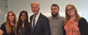 APPC postdoctoral fellows with Vice President Biden.
