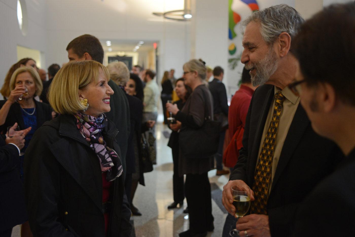 Marcia McNutt and Michael X. Delli Carpini, Dean of the Annenberg School for Communication.