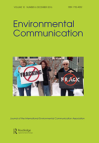 Cover of Environmental Communication.
