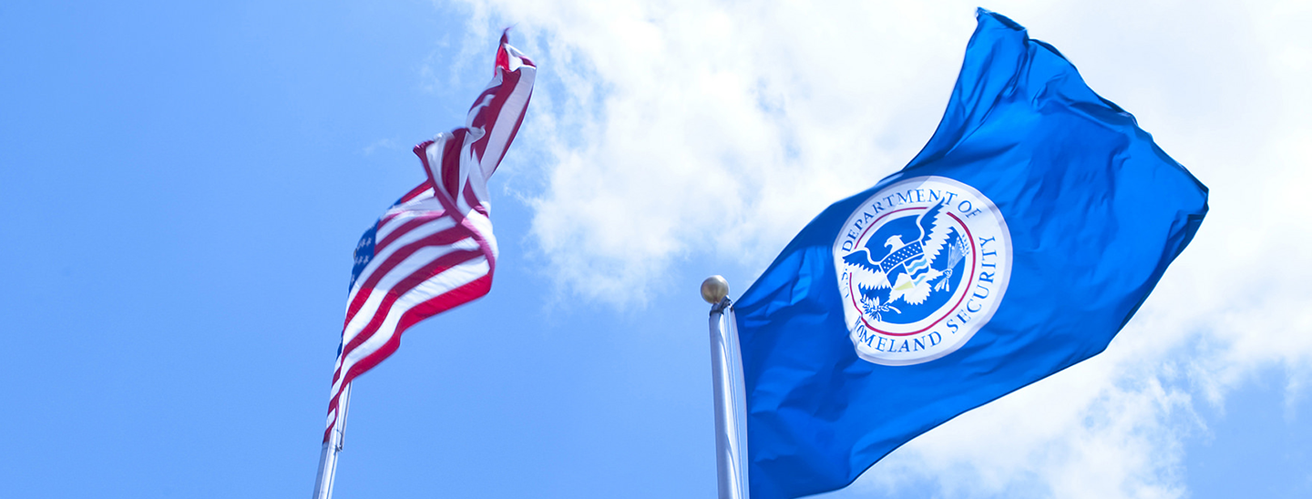 The Department of Homeland Security flag. Credit: DHS/Barry Bahler.