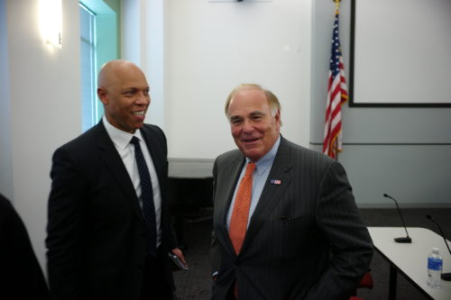 Philadelphia Schools Superintendent William Hite and former Gov. Ed Rendell