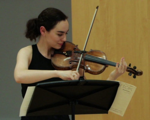 Francesca dePasquale, a 2014 Leonore Annenberg arts fellow, performs in a recital at APPC on April 13, 2018.