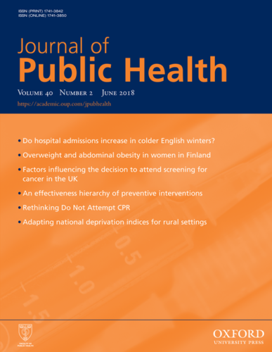 Journal of Public Health, June 2018