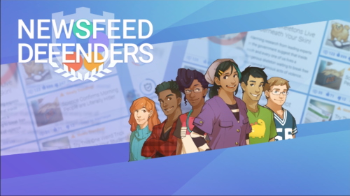 "A preview of the new ""NewsFeed Defenders"" game."