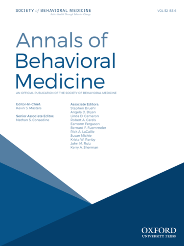 Annals of Behavioral Medicine.