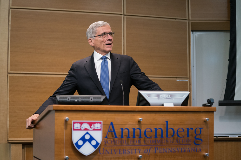 Tom Wheeler delivers the 2018 Annenberg Lecture.