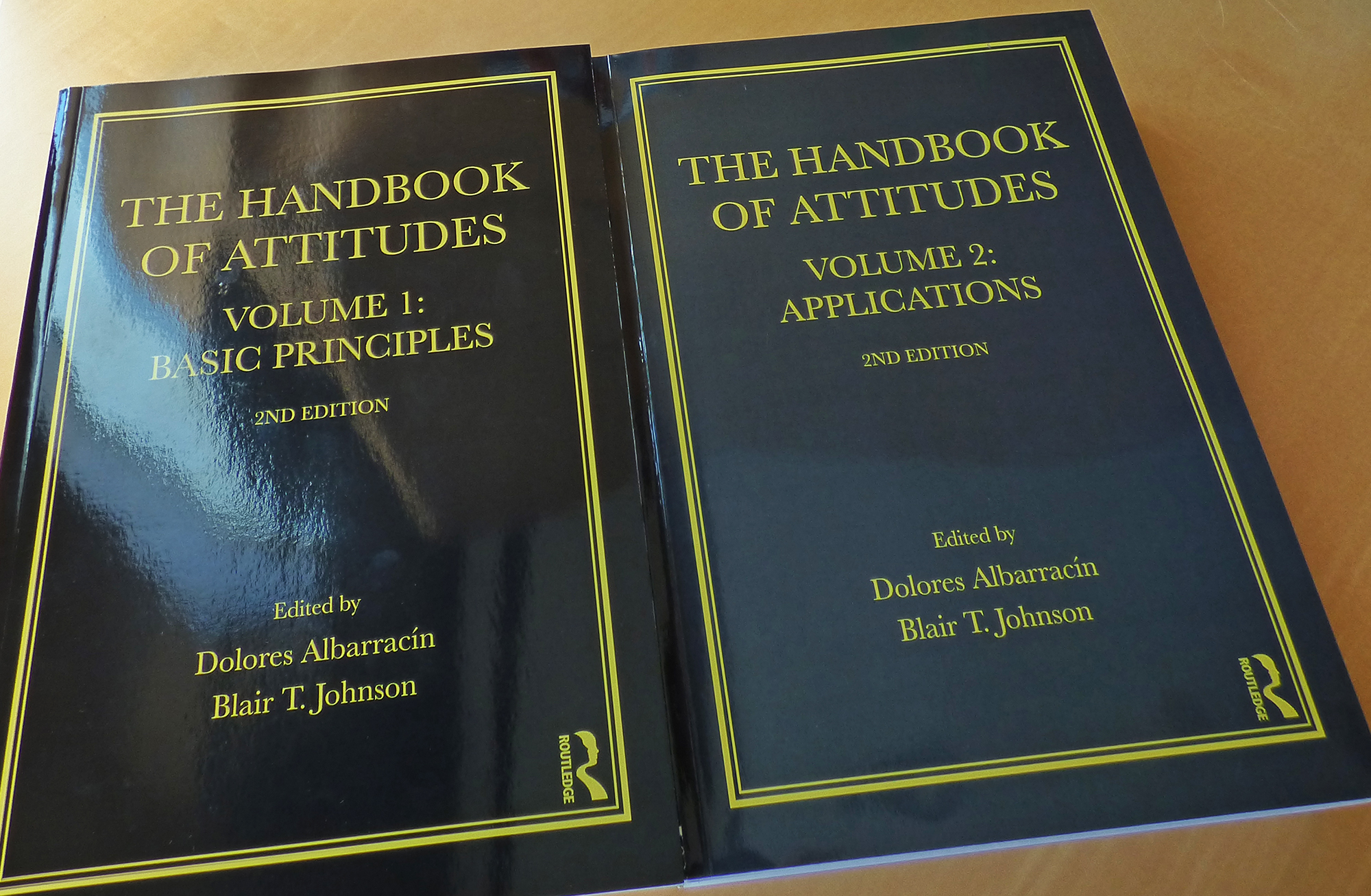 "Volumes 1 and 2 of ""The Handbook of Attutides,"" 2nd edition."