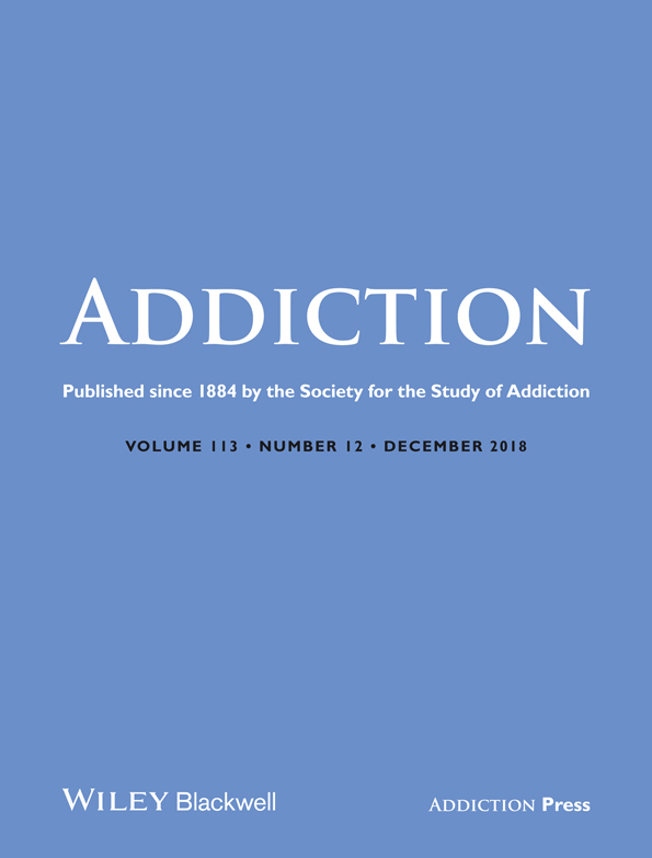 Addiction journal cover.
