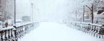 Snowy street scene. Credit: Filip Bunkens/Unsplash.