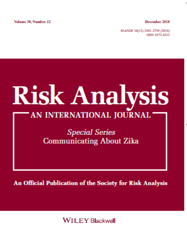 "Cover of special issue of Risk Analysis on ""Communicating About Zika,"" December 2018"