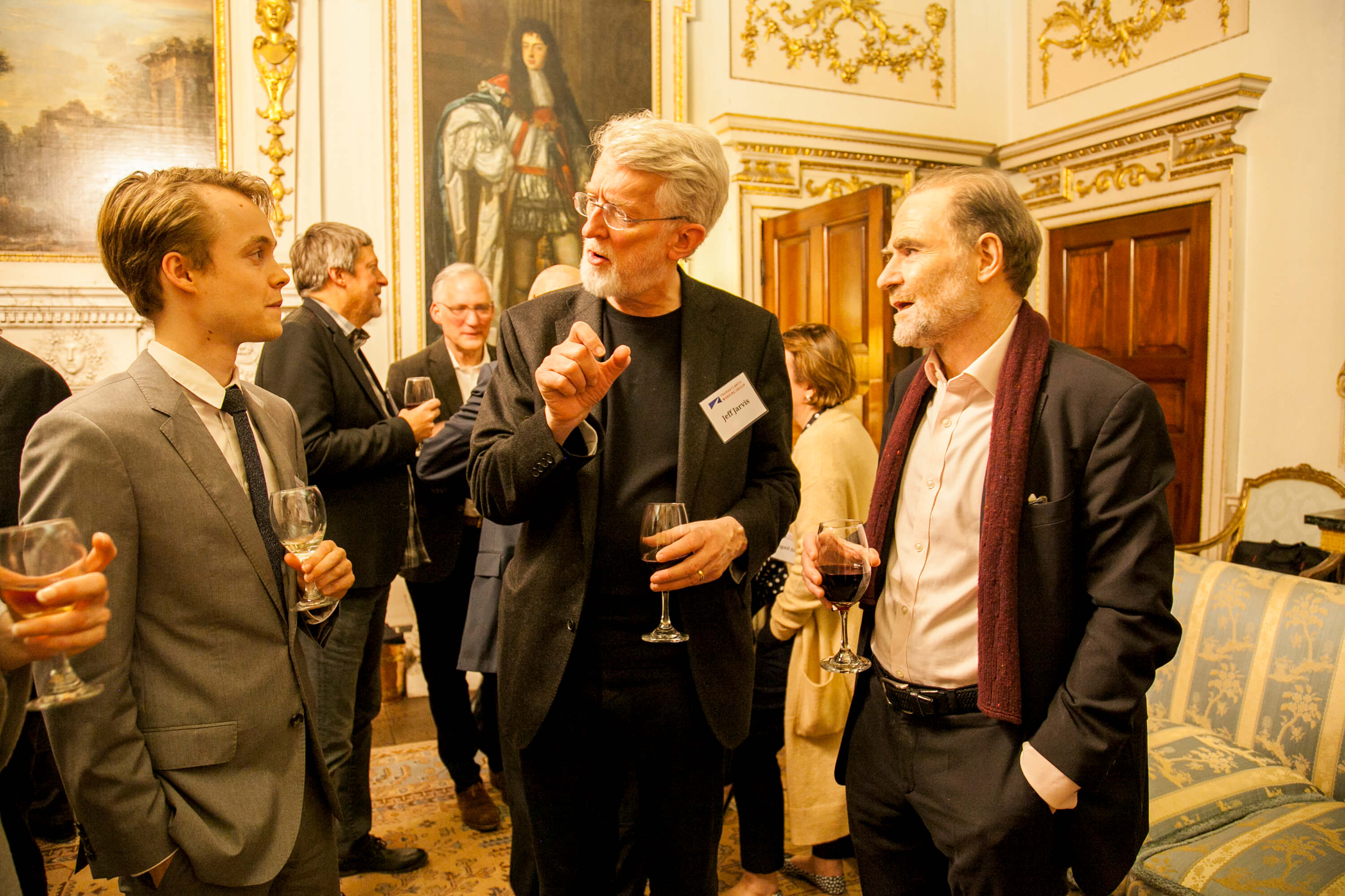 Paddy Leerssen, Jeff Jarvis, and Timothy Garton Ash. Credit: Silver Apples Photography. Transatlantic Working Group.