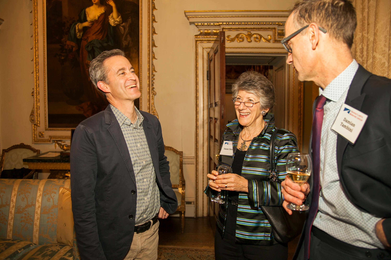 David Kaye, Susan Ness, and Damian Tambini. Credit: Silver Apples Photography. Transatlantic Working Group.