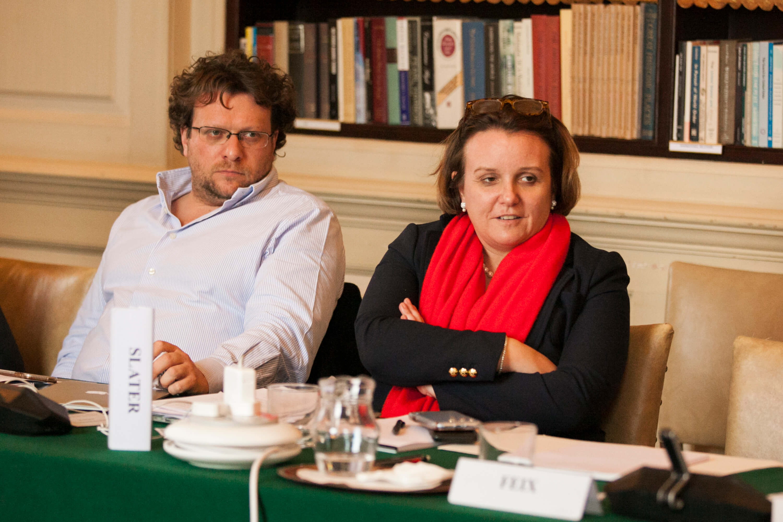 Peter Pomerantsev and Abigail Slater. Credit: Silver Apples Photography. Transatlantic Working Group.