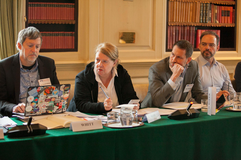 Richard Whitt, Erika Mann, Bret Schafer, and Frane Maroevic. Credit: Silver Apples Photography. Transatlantic Working Group.