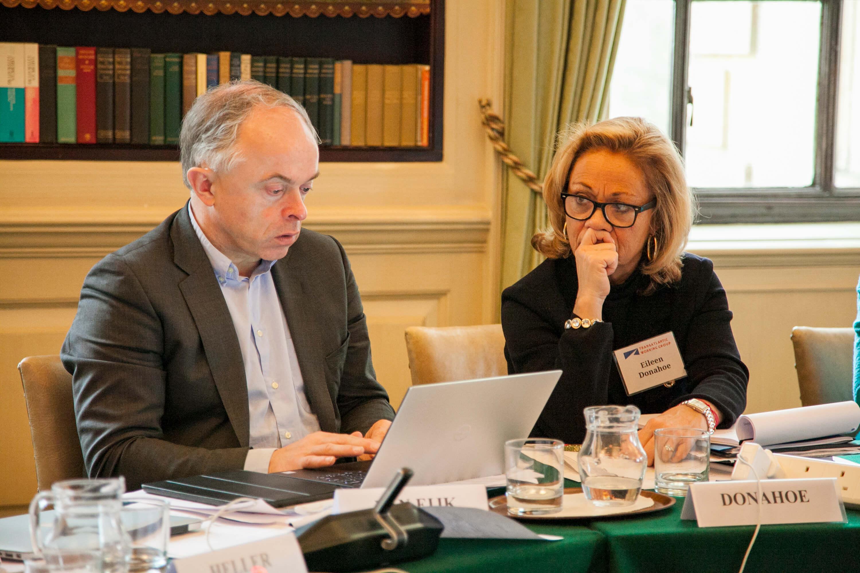 Nico van Eijk and Eileen Donahoe. Credit: Silver Apples Photography. Transatlantic Working Group.