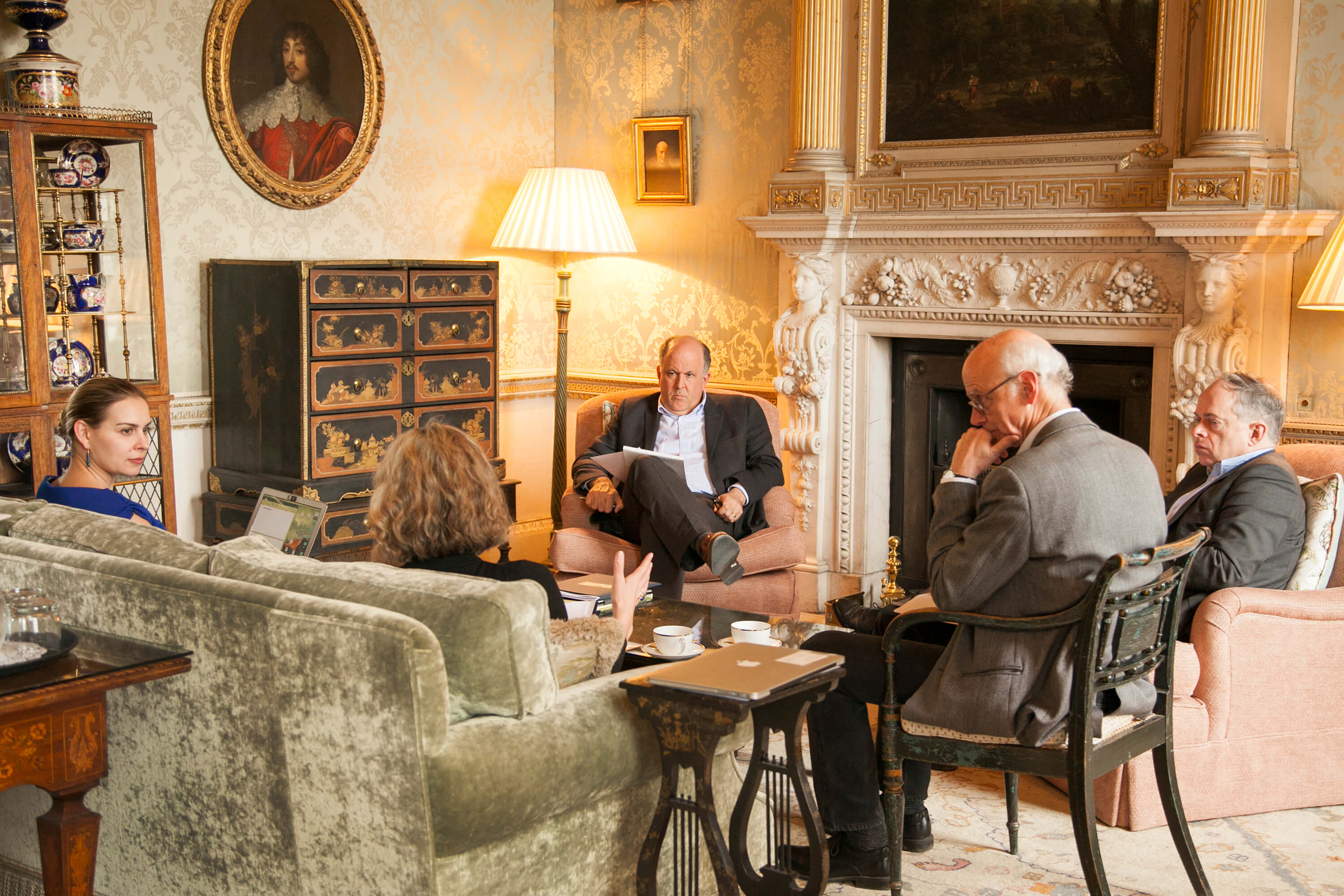 A break-out session in the Green Drawing Room. Credit: Silver Apples Photography. Transatlantic Working Group.