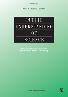 Public Understanding of Science volume 28, issue 3 (2019).