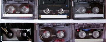 Cassette tapes.