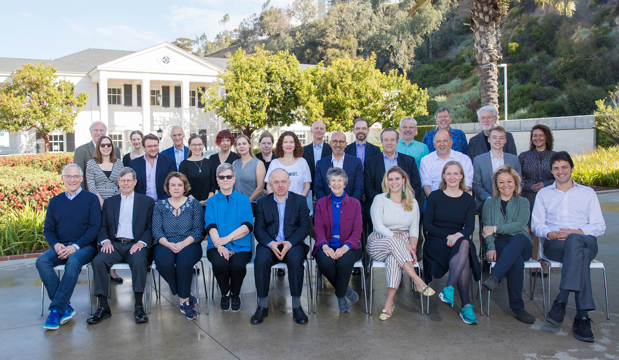 Members of the Transatlantic Working Group (TWG) in Santa Monica, California.