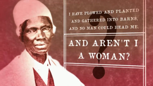 "Portrait of Sojourner Truth. From ""The 19th Amendment: A Woman's Right to Vote."""