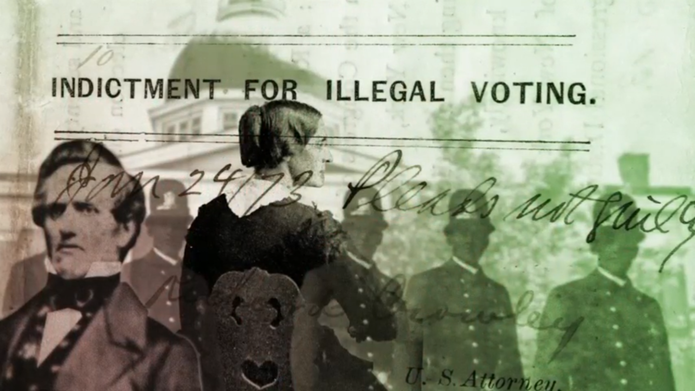 """Susan B. Anthony was arrested and indicted after voting in 1872. She argued unsuccessfully she had that right under the 14th Amendment.. From """"The 19th Amendment: A Woman's Right to Vote."""""""