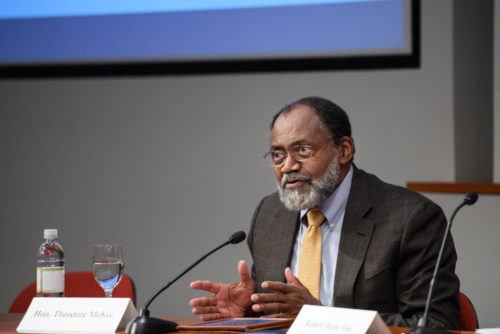 U.S. Circuit Judge Theodore McKee at the Fair & Impartial Judiciary Symposium, Oct. 26, 2019.