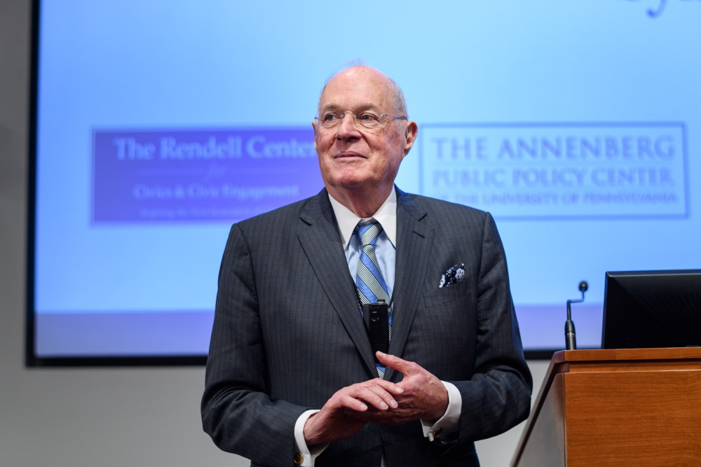 Supreme Court Justice Anthony Kennedy at the Fair & Impartial Judiciary Symposium, Oct. 26, 2019.