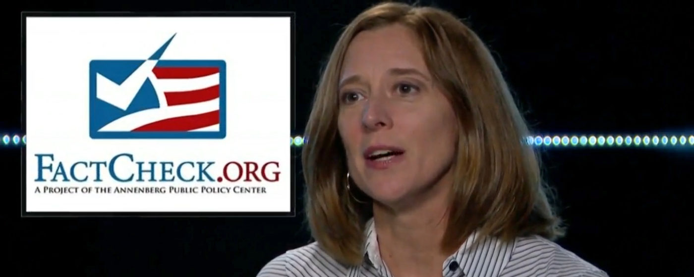 FactCheck.org Managing Editor Lori Robertson. FactCheck.org and Hearst TV are partnering for the 2020 campaign.