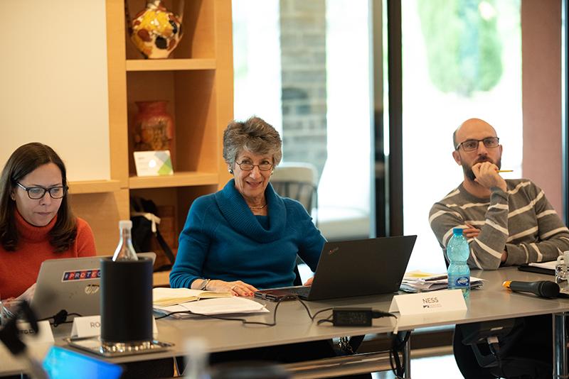 Laura Rosenberger, TWG co-chair Susan Ness, and Michal Feix.