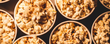 Popcorn image. A study of popcorn-eating behavior was one of the retractions of scientific findings analyzed in the update of the third Annenberg Science Media Monitor.