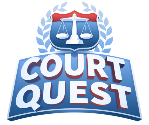Logo of Court Quest, one of the nonpartisan civics games from iCivics and APPC