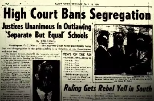 A newspaper headline from a video being highlighted for Juneteenth