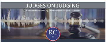 Rendell Center podcast banner: Judges on Judging